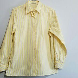 Foxcroft Tops - Foxcroft wrinkle free Yellow Oxford Shirt