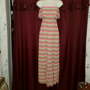 Mossimo Maxi Dress Colorful Boho Sundress