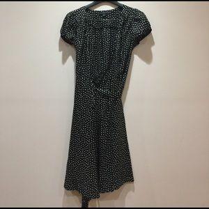 Silk polka dot wrap summer dress