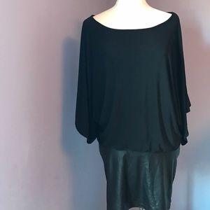 Arden B Dresses & Skirts - Arden b black leatherette skirt dress
