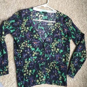 J. Crew Sweaters - J. Crew V-neck patterned cardigan
