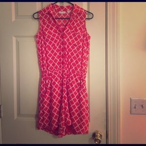 New York & Company Other - Red Patterned Romper