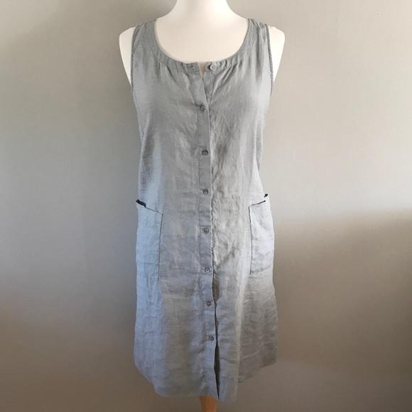 d85a4bcb76d Eileen Fisher Organic Linen Dress