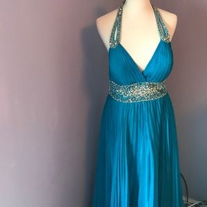 Tony Bowls Dresses & Skirts - Tony bowls blue pleated prom formal gown