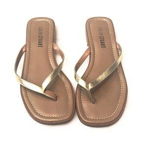 Colin Stuart Shoes - ❣BOGO 1/2 off❣Colin Stuart gold sandals 7M