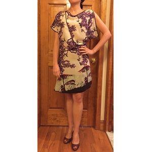 BCBGMaxAzria Dresses & Skirts - 30% OFF BUNDLES BCBG Japanese Print SILK Dress EUC