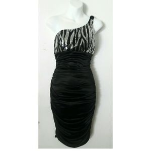 Ruby Rox Dresses & Skirts - Bodycon midi dress in black with sequence NWOT