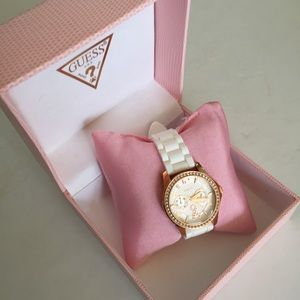 Guess Accessories - White/Pink Guess Watch Breast Cancer Awareness