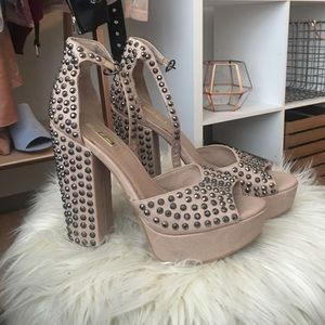 Wild Pair Shoes - Studded Heels
