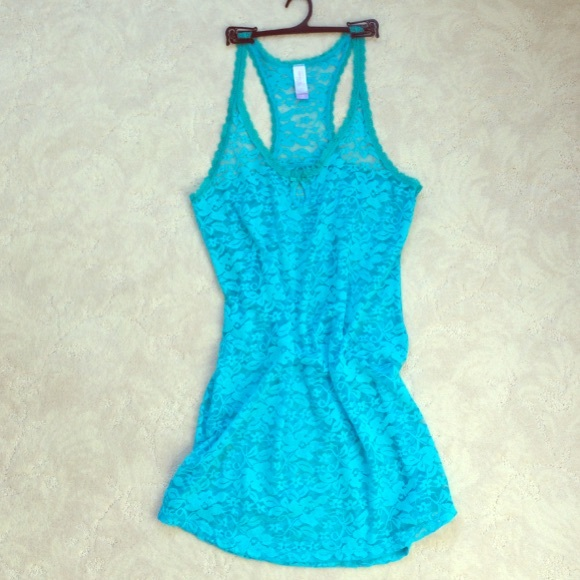 Nwot Sea Ocean Blue Lace Cover Up Or Night Gown