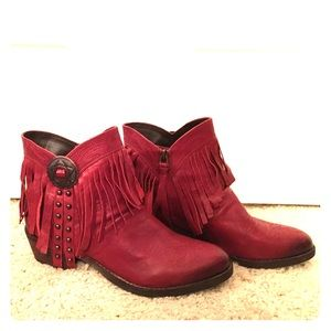 Sam Edelman red booties