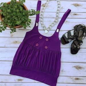 Tiara Tops - Tiara Adorable Purple Festival Top with Suspenders