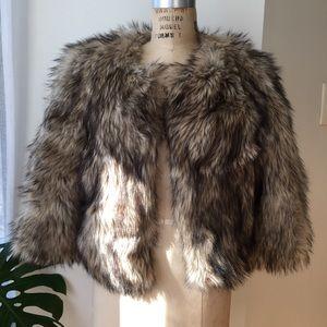 MICHAEL Michael Kors Jackets & Blazers - Michael Kors Faux Faux 3/4 Length Coat Size Large