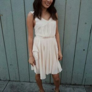Dresses & Skirts - Peach chiffon dress