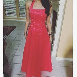 Morgan & Co. Dresses & Skirts - Bright red long prom dress!!!