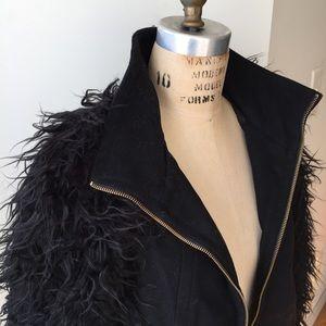 Zara Jackets & Coats - ZARA fury sleeves wool coat size Large
