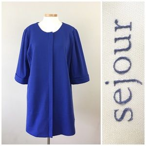 Sejour Jackets & Blazers - Stunning Sejour Royal Blue Raglan Pocket Jacket