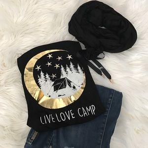 "Paper Crane Tops - Paper Crane ""Live Love Camp"" Tank"