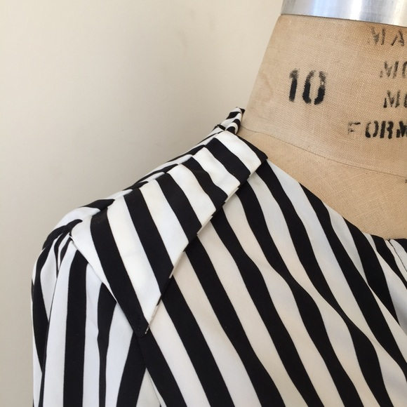 H&M Tops - H&M stripe top silky material Size 6