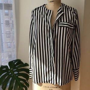 H&M stripe top silky material Size 6