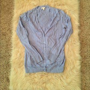 Powder blue cardigan
