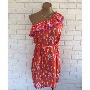 Mud Pie Dresses & Skirts - ⚡️SALE⚡️Pink orange and white printed mudpie dress