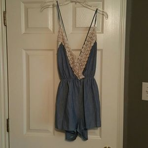 Spool 72 Other - Denim and lace romper