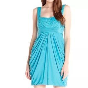 BCBG Dresses & Skirts - BCBG MAXAZRIA CYAN BLUE DRAPED DRESS