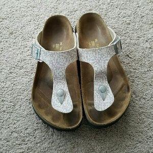 Birkenstock Shoes - Papillio Birkenstock Gizeh Pink T-Strap Sandals 36