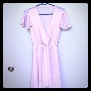 Asos Blush pink flowy dress w/ open back