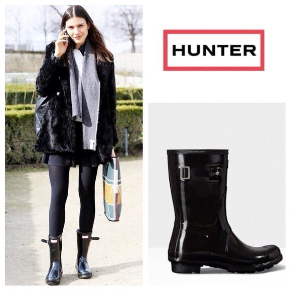 af4858c44 Hunter Shoes | Original Short Gloss Rain Boot | Poshmark