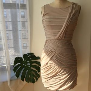 Cynthia Steffe Dresses & Skirts - CYNTHIA STEFFE NUDE RUCHED DRESS Sz 6