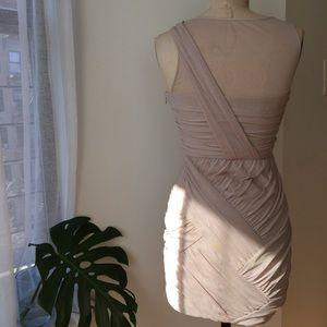 Cynthia Steffe Dresses - CYNTHIA STEFFE NUDE RUCHED DRESS Sz 6