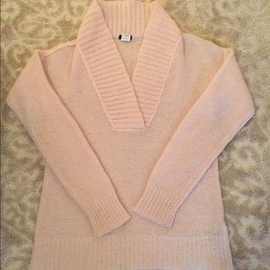 J. Crew Sweaters - Blush v-neck sweater with thick collar