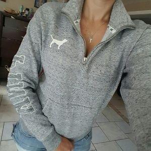 pink Sweaters - Rare LN, vs pink marled gray quarter zip