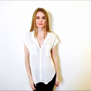 CLOTH AND STONE ANTHROPOLOGIE WHITE TOP