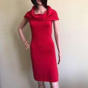Wesc Dresses & Skirts - Red Knit Cowl Neck Dress