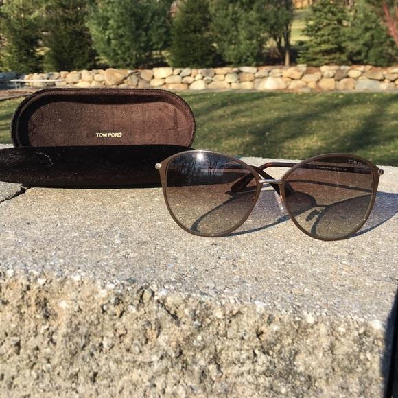56006ed5e1fc8 Tom Ford Penelope Brown   Gold Cat Eye Sunglasses.  M 58bd68e29c6fcf72a30dc5e9