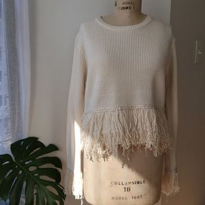 Endless Rose Fringe Sweater Size Medium