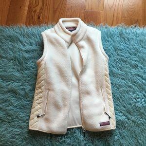 Vineyard Vines white fleece vest