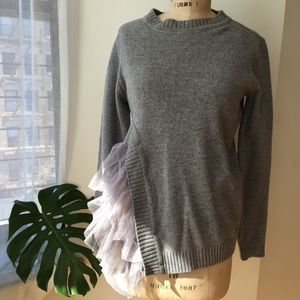 Storets tulle side sweater size Medium