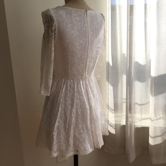 Topshop Dresses - Topshop Lace Skater Dress Size 6