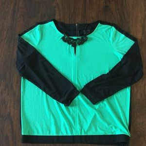 Green and Black Worthington Top