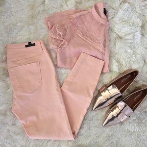 LC Lauren Conrad Denim - LC Lauren Conrad Peach Crop Skinny Jeans 2