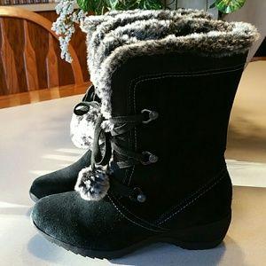 NWT Sporto blk suede boots w/faux lined fur SZ 7.5