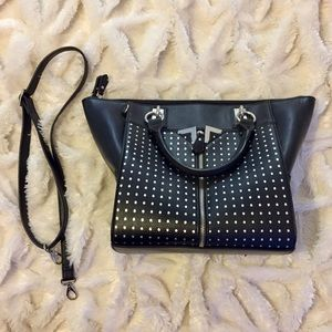 Danielle Nicole Black Tote Satchel Bag