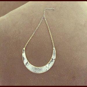 Snakeskin Collar Statement Necklace