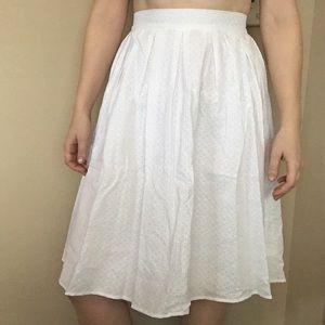 Zara Eyelit Midi Skirt