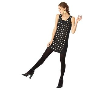 kate spade Dresses & Skirts - KATE SPADE SATURDAY NEW Black Gold Polka Dot Dress