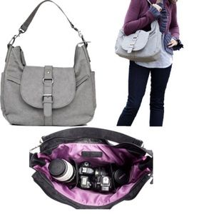 Kelly Moore Handbags - Kelly Moore gray hobo camera bag